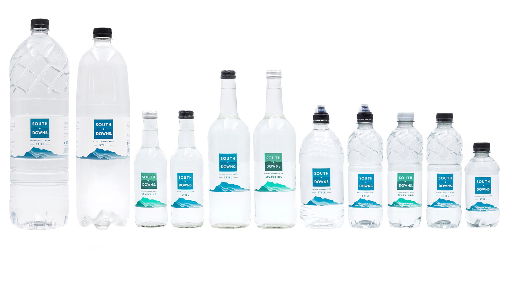 South Downs Water Bottled Water Range