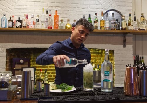 Goodwood's Farmer, Butcher Chef creates special South Downs Water Virgin Mojito for January